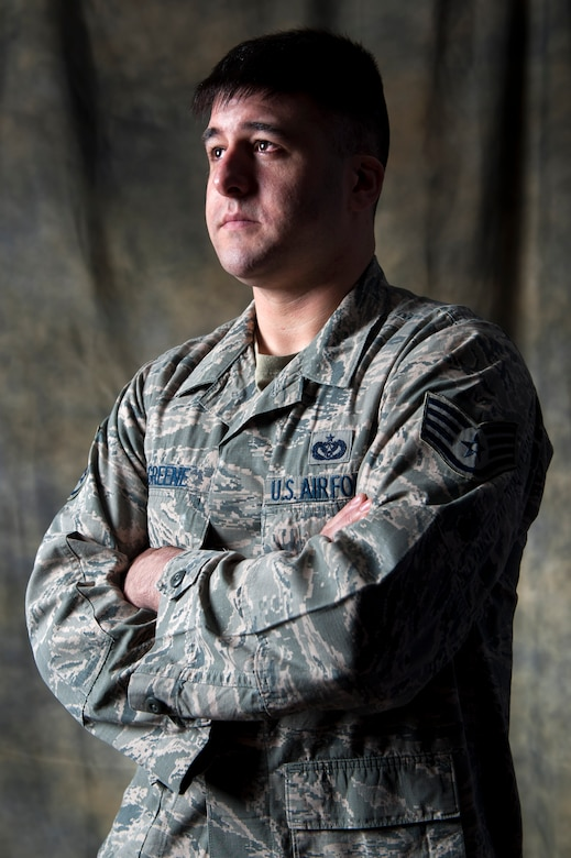 Air Force Staff Sgt. Joshua Greene, is just one of more than 30 Sexual Assault Prevention and Response victim advocates who are the first line of support for victims of sexual assault. The victim advocate offers support to their clients, facilitates their decision making, informs them of their rights, serves as a liaison among agencies, accompanies their clients to appointments, offer crisis intervention, conducts safety planning and works with other helping and law enforcement agencies until their services are no longer needed or requested. Greene is assigned to the 673d Civil Engineer Squadron as a firefighter. (U.S. Air Force photo/Staff Sgt. Sheila deVera)