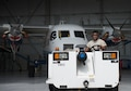 Senior Airman Brandon Elliott, 919th Special Operations Maintenance Group, begins to tow the C-145 June 6 at Duke Field, Fla. The 919th SOMXG is comprised of 919th SOMXS, 919th SOAMXS, 919th SOMOF, and the 592nd SOMXS.  Their primary mission is the maintenance of the C-145 aircraft.  (U.S. Air Force photo/Tech. Sgt. Jasmin Taylor)