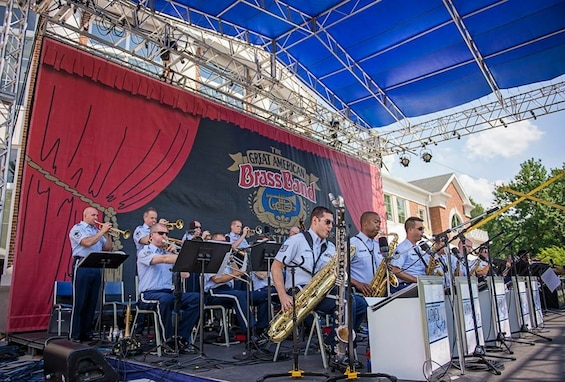 The Airmen of Note traveled to Danville, Kentucky this week to perform for The Great American Brass Band Festival.  The group performed alongside guest artists and soloists for the grand finale concert. (U.S. Air Force photo by Gabriel DiMartino/released)