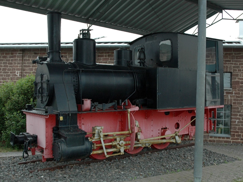 An attraction in Binsfeld is an old locomotive which used to run back and forth through the Eifel with a short stop in Binsfeld, providing transportation to local Binsfeld residents in the past. A group of honorary commanders to the 52nd Fighter wing are inviting base members on a free sightseeing tour of Binsfeld, 2 p.m., June 12, 2015, pointing out community highlights. (Courtesy photo)