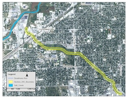 Outlines the primary reach along Deadmans Run, a tributary of Salt Creek, in Lincoln, Nebraska that will be studied during the feasibility phase of a Section 205 flood risk management project.