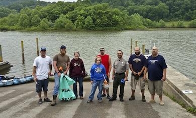 The Stonewall Jackson Lake staff partnered with a local fishing group to beautify and make the lake safe for visitors, June 6.