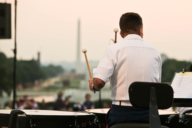 The Marine Band performed an outdoor Summer Fare concert on the west terrace of the U.S. Capitol Thursday evening, June 11. (U.S. Marine Corps photo by Staff Sgt. Brian Rust/released)