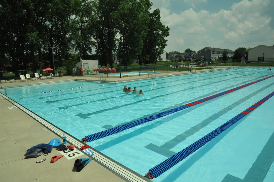 The pool at the Prairies is open seven days a week this summer. For information and passes, call 255-8566. (Air Force photo by W. Eugene Barnett)
