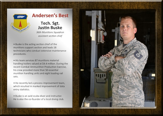 Team Andersen's Best: Tech. Sgt. Justin Buske