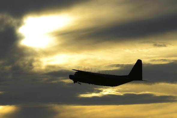 A U.S. Air Force MC-130H Combat Talon II from the 1st Special Operations Squadron flies over Kadena Air Base, Japan, shortly after takeoff May 14, 2015.  The 1st Special Operations Squadron operates the MC-130H providing infiltration, exfiltration, and resupply of special operations forces and equipment in hostile or denied territory.  (U.S. Air Force photo by Senior Airman Stephen G. Eigel)