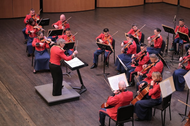 The Marine Chamber Orchestra performed music by Sibelius and Nielsen on Feb. 8, 2015 at the Rachel M. Schlesinger Concert Hall at Northern Virginia Community College in Alexandria, Va.
