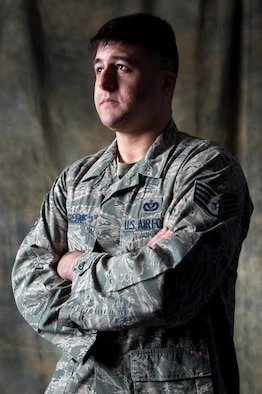 Staff Sgt. Joshua Greene, is just one of more than 30 Sexual Assault Prevention and Response victim advocates at Joint Base Elmendorf-Richardson, Alaska, who are the first line of support for victims of sexual assault. The victim advocate offers support to their clients, facilitates their decision making, informs them of their rights, serves as a liaison among agencies, accompanies their clients to appointments, offer crisis intervention, conducts safety planning and works with other helping and law enforcement agencies until their services are no longer needed or requested. Greene is assigned to the 673rd Civil Engineer Squadron as a firefighter. (U.S. Air Force photo/Staff Sgt. Sheila deVera)
