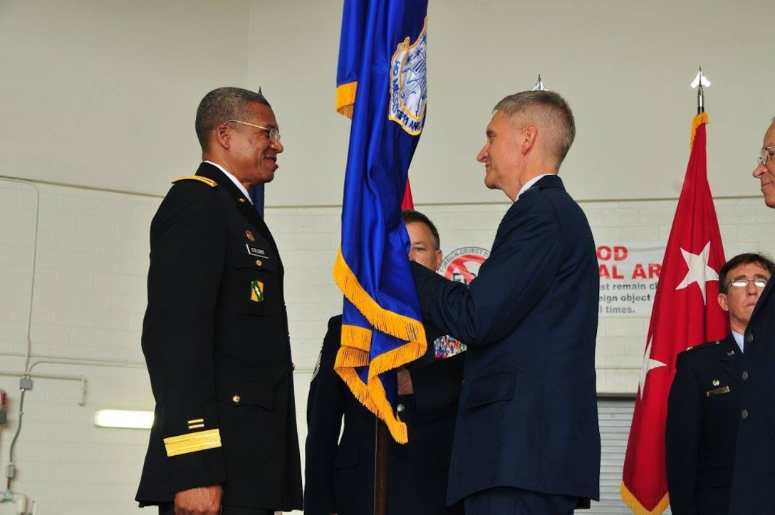 Maj. Gen. Augustus L. Collins (left), The Adjutant General of Mississippi, hosted 