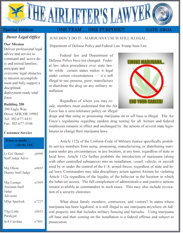 Team Dover Legal Office Newsletter June Edition  Th Airlift