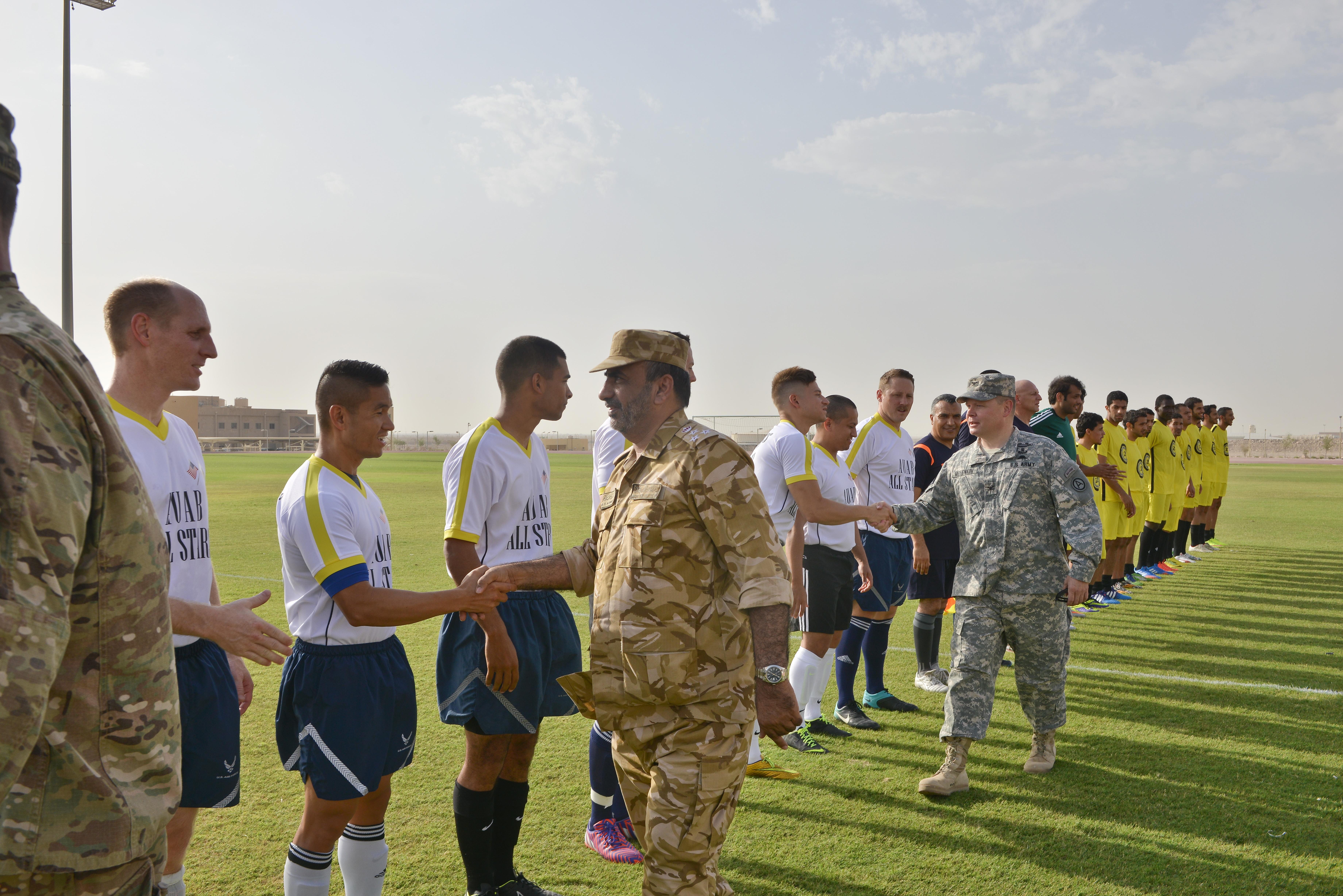 AUAB All-Stars and Qatari military score big during soccer