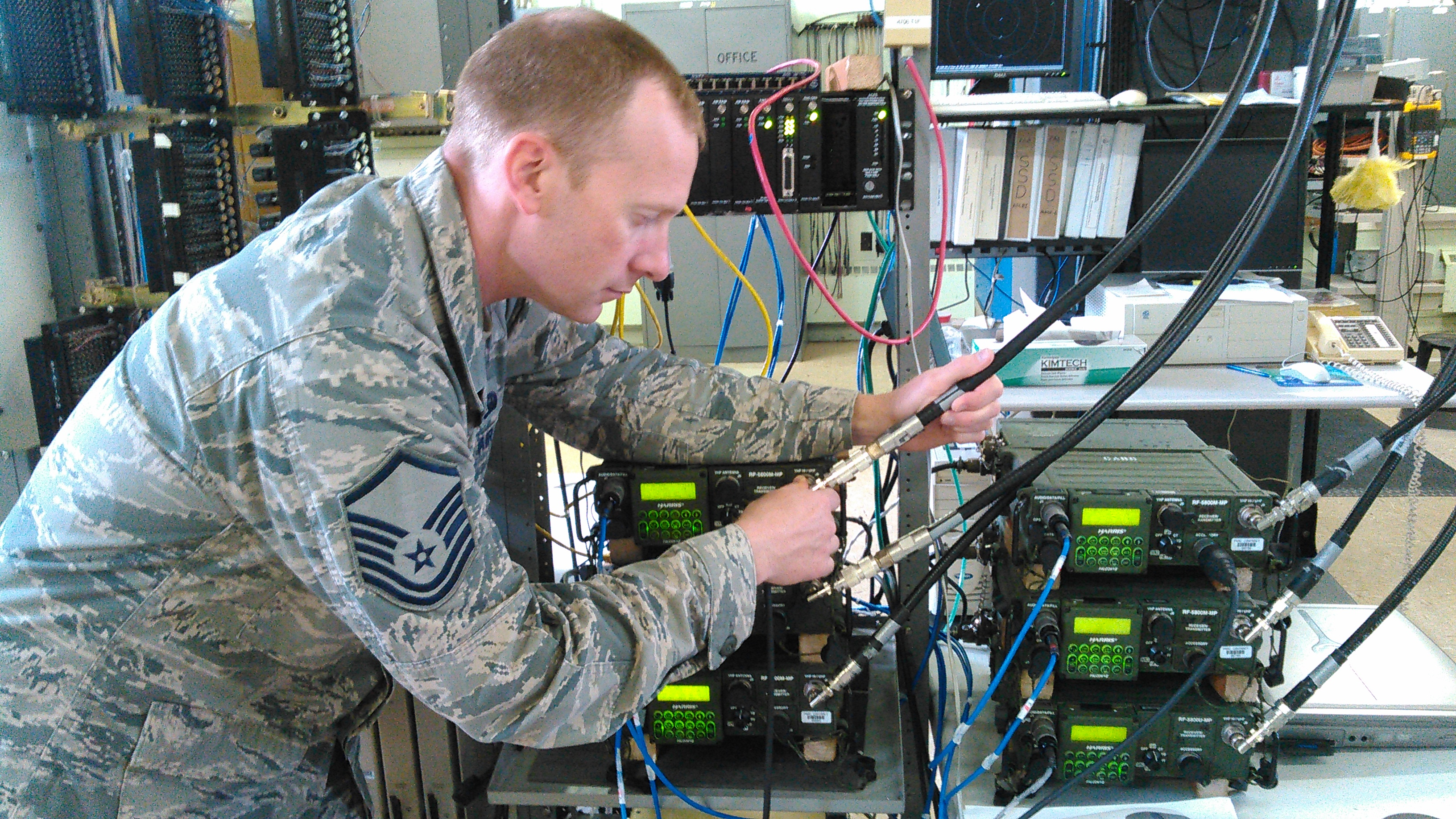 Remote radio relay stations enable communications during NE15