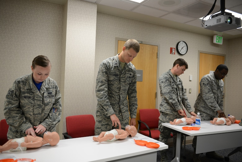 36th MDG trainers coach Airmen on lifesaving skills > Andersen Air Accurate Training on