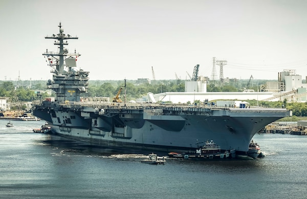 Uss George H W Bush Arrives At Nnsy For Pia Naval Sea Systems