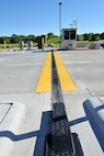 The Kenney Gate on Offutt Air Force Base, Nebraska recently got some much needed upgrades for security and to provide better protection from the elements for the 55th Security Forces members. The Kenney Gate is named after Gen. George C. Kenney who was the first commander of Strategic Air Command. (U.S. Air Force photo by Charles Haymond/Released)