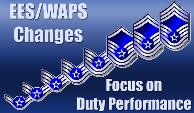 The Air Force announced it will update the enlisted performance report forms and utilize new forced distribution and senior rater stratification restrictions to round out the incremental changes to enlisted evaluation and promotion systems with performance as the driving factor in promotions. (Graphic by Shelly Petruska)