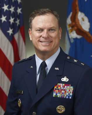 Maj. Gen. Casey Blake was photographed in the Pentagon, Washington, D.C. June 12, 2015. (U.S. Air Force photo/Jim Varhegyi)