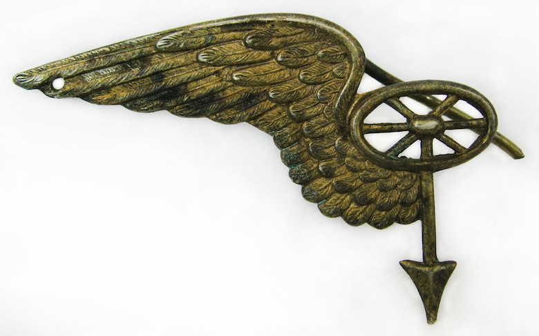 This insignia was worn by members of the Transportation Corp of the Austro-Hungarian Army.  The Austro-Hungarian Army was the combined military force of Austria and Hungary during World War I. (U.S. Air Force photo)
