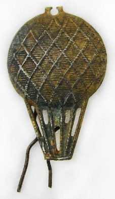 This insignia was worn by members of the Balloon Corp of the Austro-Hungarian Army. The Austro-Hungarian Army was the combined military force of Austria and Hungary during World War I. (U.S. Air Force photo)