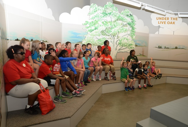 The Child Development Center's school-age and Pre-K youth at Marine Corps Logistics Base Albany attend a field trip to Thronateeska Heritage Center, Albany, Georgia, June 5. The activities are offered to eligible youth and are a part of the installation's CDC Summer Camp Program, which will run through July 31.
