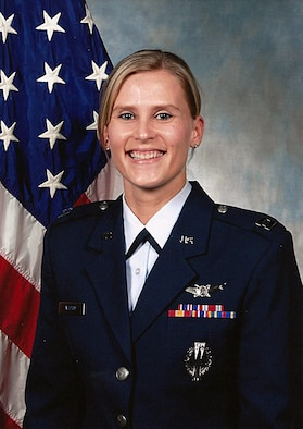 Capt. Sandra Mueller, Task Force 214 chief of combat assessments and readiness. (U.S. Air Force file photo)