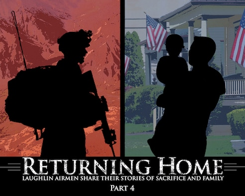 The Laughlin AFB public affairs office is publishing a series of stories highlighting Laughlin's deployers. This series discusses the importance of deployments while emphasizing the enormity of the sacrifice by both the Airman and the family they leave behind. (U.S. Air Force Graphic Illustration by Staff Sgt. Steven R. Doty)(Released)
