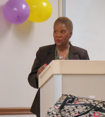 Romance novelist Brenda Jackson is the guest speaker during the Women's History Month observance at SERMC