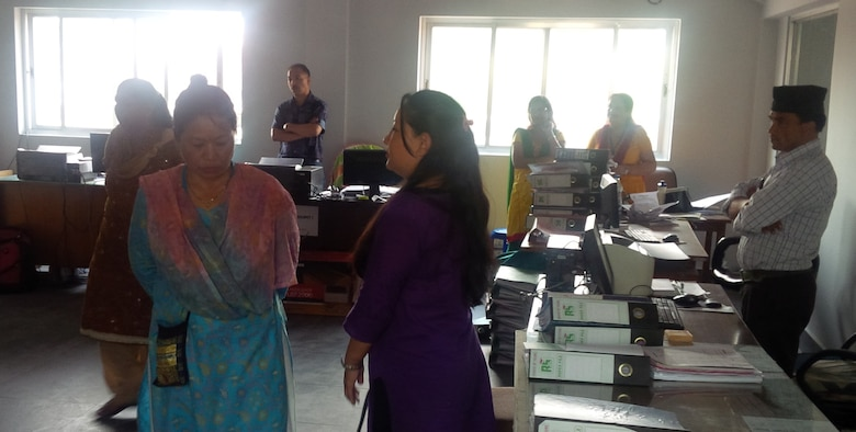 The district managed the design and construction of the $1.2 million blood center at the Tribhuvan University Teaching Hospital in Kathmandu. The facility suffered no damage in the earthquake and remained operable. The center's conference room is serving as temporary office space for a section of the hospital that was heavily damaged.