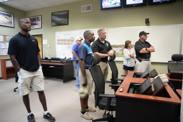 Base officials closely monitor weather conditions to determine when to resume the Independence Day celebration, June 26.