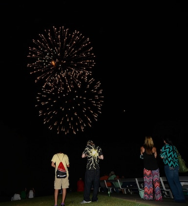 A local band performs aboard Marine Corps Logistics Base Albany during the fireworks display, June 26.