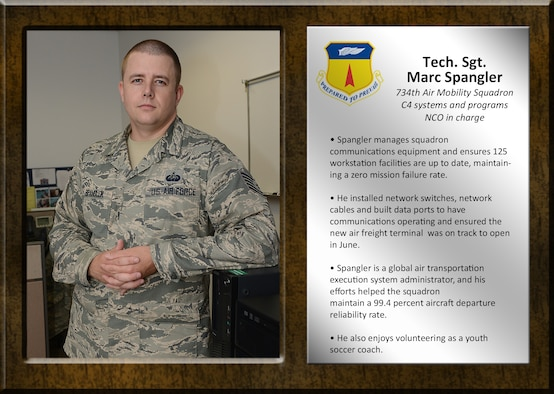 Team Andersen's Best: Tech. Sgt. Marc Spangler