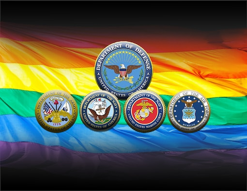 President Barack Obama declared June as Lesbian, Gay, Bisexual and Transgender Pride Month, and the Defense Department is highlighting the importance of leadership as it celebrates the achievements and sacrifices of LGB service members and LGBT civilians. (U.S. Air Force graphic/Staff Sgt. Alexandre Montes)