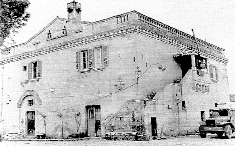 460th Bombardment Group Headquarters building (Photo by Duane Bohnstedt)