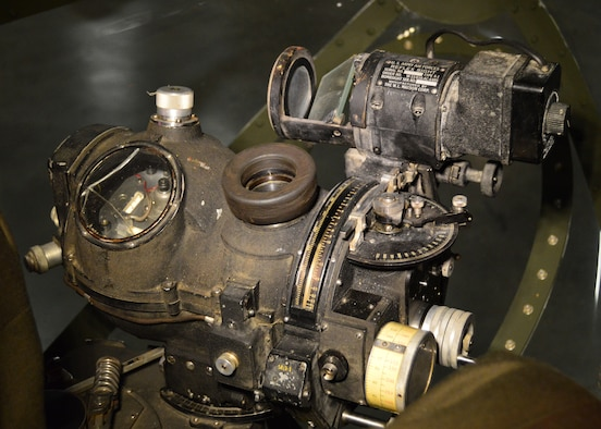 DAYTON, Ohio - Martin B-26G Marauder Norden bomb sight at the National Museum of the U.S. Air Force. (U.S. Air Force photo)