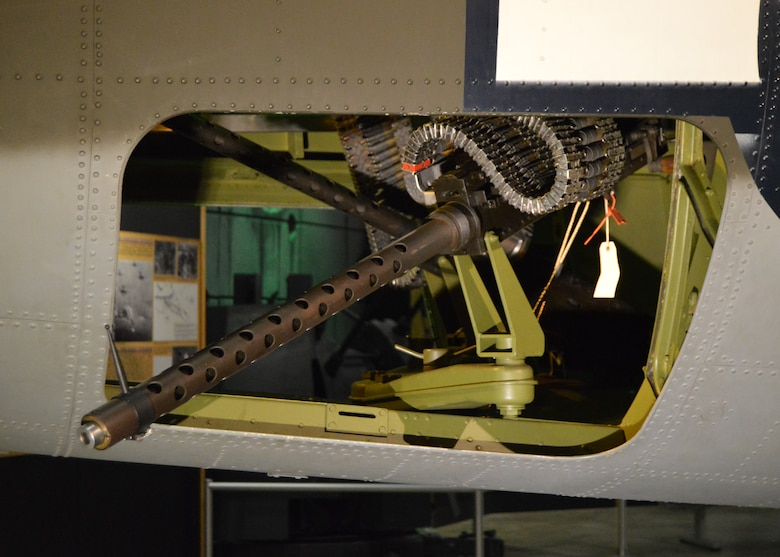 DAYTON, Ohio - Martin B-26G Marauder waist gun position at the National Museum of the U.S. Air Force. (U.S. Air Force photo)