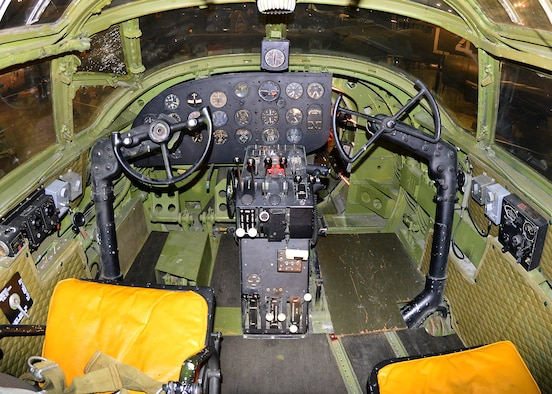 DAYTON, Ohio - Martin B-26G Marauder cockpit in the WWII Gallery at the National Museum of the U.S. Air Force. (U.S. Air Force photo by Ken LaRock)