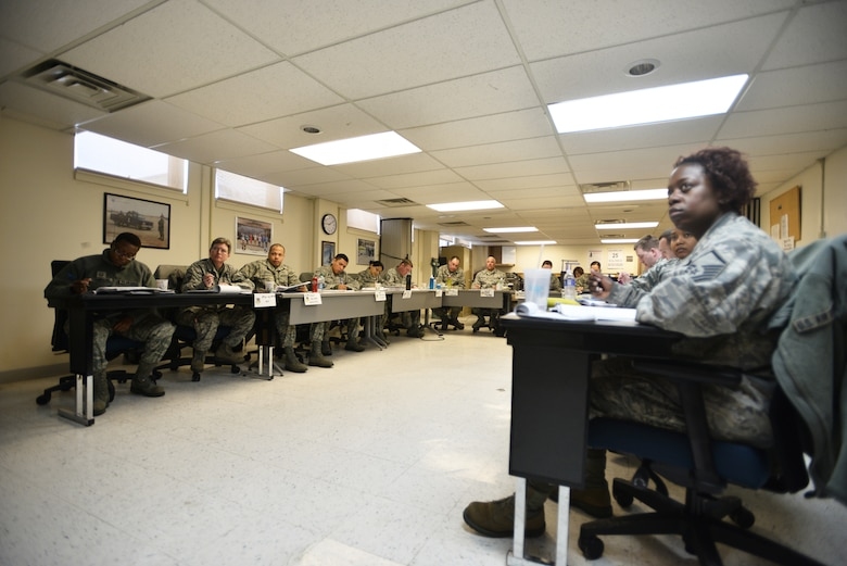 The 107th Airlift Wing hosted an Instructor Certification Program (ICP) here this past week with 16 New York Air National Guardsmen attending in order to become facilitators for Professional Military Education (PME) courses.  Mar. 3, 2015. (U.S. Air National Guard Photo/ Staff Sgt. Ryan Campbell)