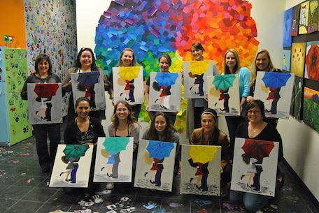 Spouses from 8th Communications Battalion got together on the 2nd of March 2015 to enjoy a night out at Spirited Art in Jacksonville, NC. all those who attended had a wonderful time and we look forward to seeing more participation at family events in the future.