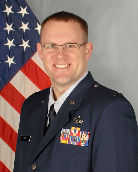 1st Lt. Adam Punt, 114th Comptroller Flight budget officer, native of Stickney, S.D., was selected as the 114th Fighter Wing Outstanding Lieutenant of the Year for 2014. (National Guard photo by Senior Master Sgt. Nancy Ausland/Released)