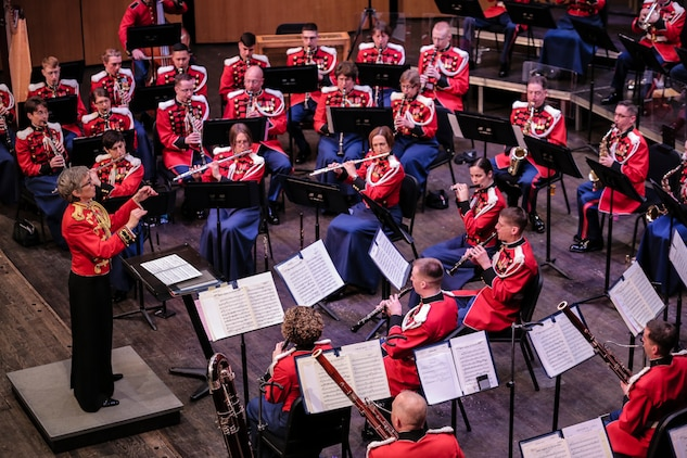 "March 8, 2015, at Rachel M. Schlesinger Concert Hall and Arts Center in Alexandria, Va., the Marine Band performed the concert ""From the Land of the Northern Lights"" featuring music by Scandinavian composers. (U.S. Marine Corps photo by Staff Sgt. Brian Rust/released)"