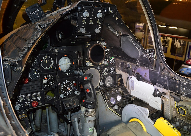 DAYTON, Ohio - LTV A-7D Corsair II cockpit in the Southeast Asia War Gallery at the National Museum of the U.S. Air Force. (U.S. Air Force photo by Ken LaRock)