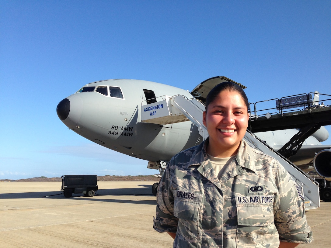 Staff Sgt. Jacklyn Arango-Morales, 45th Operations Group Airfield Management Operations supervisor, was selected for Shark of the Week. She was nominated by Chief Master Sgt. James Isom, 45th OG, because he said she is the epitome of the Air Force Core Values. (Courtesy photo) (Released)