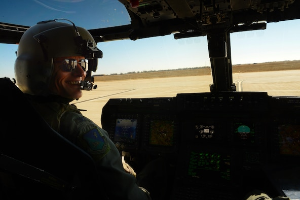 U.S. Air Force Col. Ben Maitre, 27th Special Operations Wing commander, settles into the cockpit of a CV-22 Osprey March 6, 2015 at Cannon Air Force Base, N.M. Having assumed command of the 27th SOW Feb. 17, Maitre has since dove in head-first to all things Cannon. (U.S. Air Force photo/Staff Sgt. Matthew Plew)