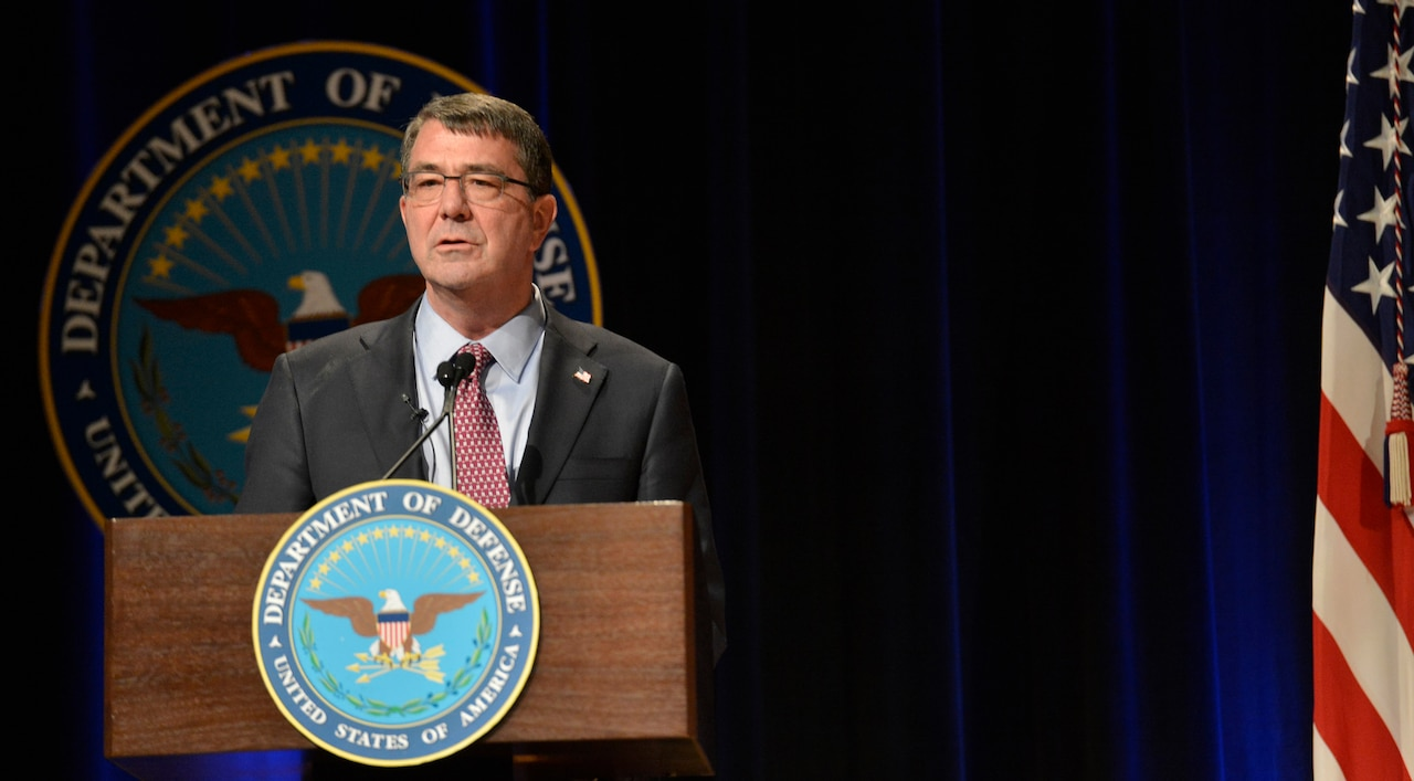 Defense Secretary Ash Carter testified before the Senate Foreign Relations Committee today alongside Secretary of State John Kerry and Chairman of the Joint Chiefs of Staff Army Gen. Martin E. Dempsey. The topic was President Barack Obama's proposed authorization for the use of military force. DoD file photo by Glenn Fawcett