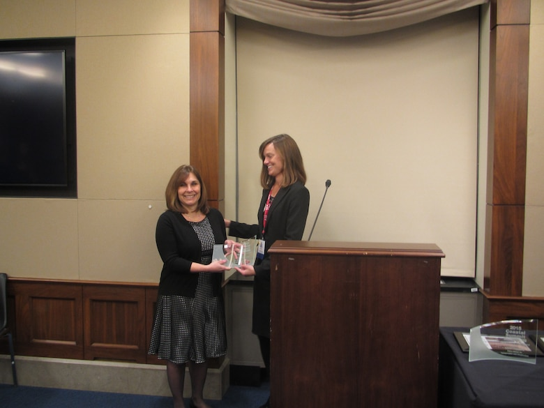 Monica Chasten, Operations Project Manager for the U.S. Army Corps of Engineers' Philadelphia District, was honored with the Army Corps of Engineers Award by the American Shore & Beach Preservation Association (ASBPA) during a ceremony at the Rayburn House Office Building in Washington, D.C. in February of 2015.  ASBPA bestows the honor to an individual who makes significant contributions to coastal projects.