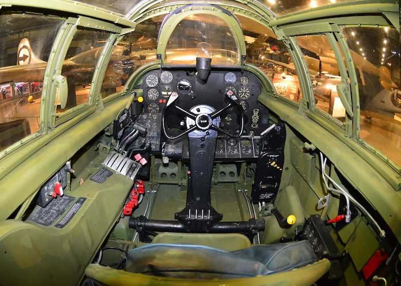DAYTON, Ohio - Northrop P-61C cockpit in the WWII Gallery at the National Museum of the U.S. Air Force. (U.S. Air Force photo)