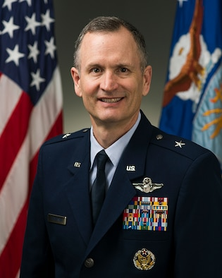 Brig. Gen. Billy Thompson was photographed in the Pentagon on Mar. 12, 2015. (U.S. Air Force photo/Jim Varhegyi)