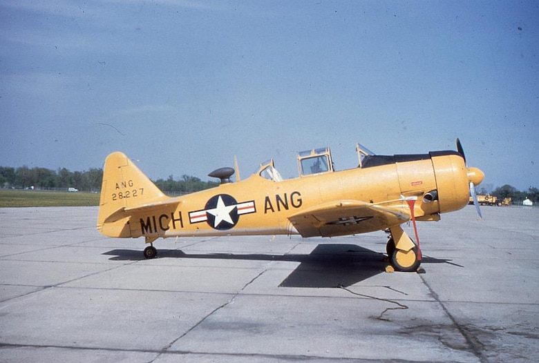 This T-6 Texan will soon be added to the air park display at the Selfridge Military Museum at Selfridge Air National Guard Base. The single-engine trainer was flown by the Michigan Air National Guard from 1946 until 1955. It is painted in colors appropriate to that era. All of the more than 30 aircraft on display at the museum were either operated by the Michigan ANG or by another military unit at a base in the state of Michigan. (Courtesy photo)