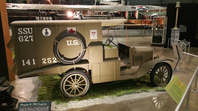 DAYTON, Ohio -- Ford Model T Ambulance on display in the Early Years Gallery at the National Museum of the United States Air Force. (U.S. Air Force photo)