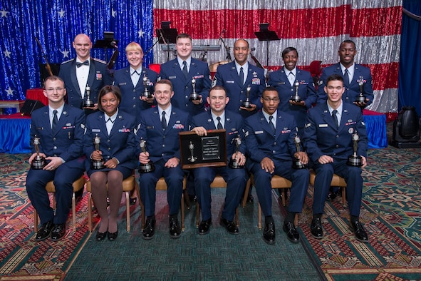 Winners of the Mission Audition 2015 competition gather for a group photo at Joint Base San Antonio-Lackland, Texas. Sixty-one active duty, Guard and Reserve members from across the Air Force competed in six categories, and the selection of a Best of Show winner. (U.S. Air Force photo)